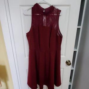 **3/$20 Burgundy special occasion dress